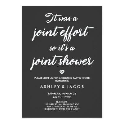 Couples Baby Shower Invitations Coed Shower Joint