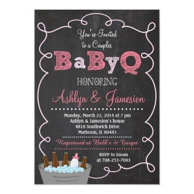 Couples BabyQ BBQ Baby Shower Invitation