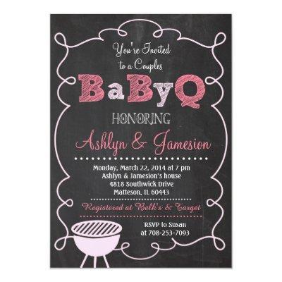 Couples BabyQ BBQ Baby Shower Invitations