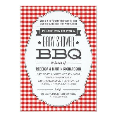 Couples BBQ Invitations