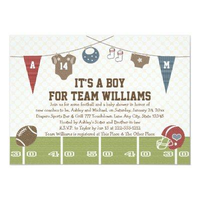 Couples Co-Ed Football Invitations