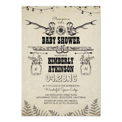 country baby shower invitations baby shower invitations | baby, Baby shower invitations