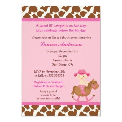 Cowgirl Baby Boy Shower Invitations Baby Shower Invitations Baby