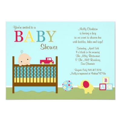 Crib Baby Shower Invitation