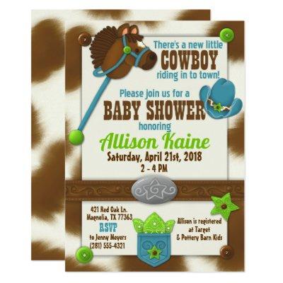 Cowboy baby boy shower invitations baby shower invitations baby cupcake cowboy baby boy shower invitations filmwisefo