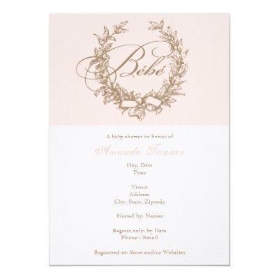 Custom Bebe - Pink French Invitations