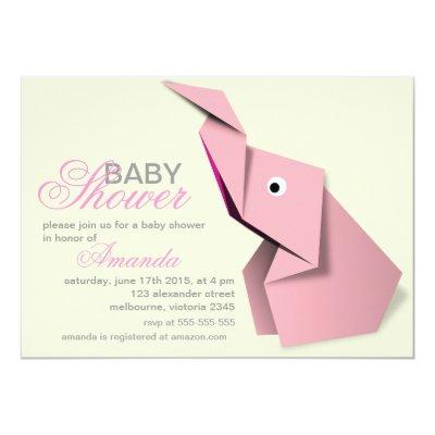 origami baby shower invitations baby shower invitations