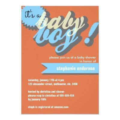 Custom typo baby shower for boy invitations baby shower invitations custom typo baby shower for boy invitations filmwisefo
