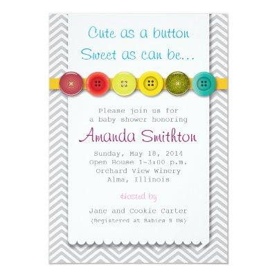 cute button invitations