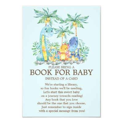Cute Dinosaur Baby Shower Book for Baby Invitations