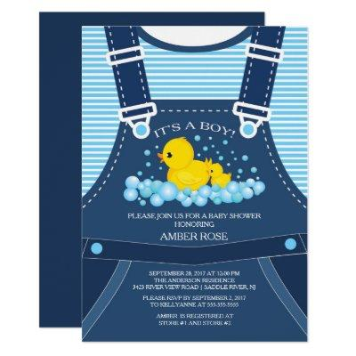 Cute Ducks Baby Shower Invitations