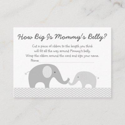 Cute Elephant Gray & White Baby Book Request Cards