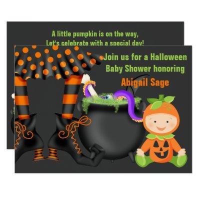 Cute Halloween Pumpkin Neutral Invite