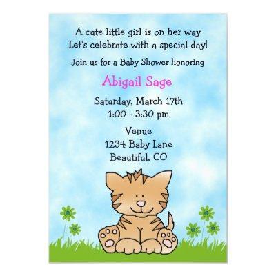 Cute Kitten Invitations for Girls