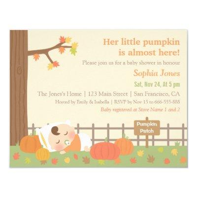 Cute Little Pumpkin Invitations