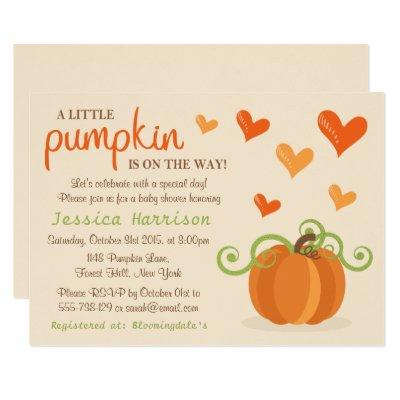 Cute Little Pumpkin Invitations