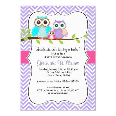 Cute Owl Girl  Pink & Purple