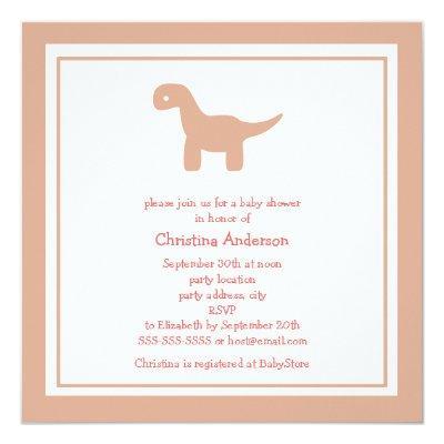 Cute Pink Dinosaur