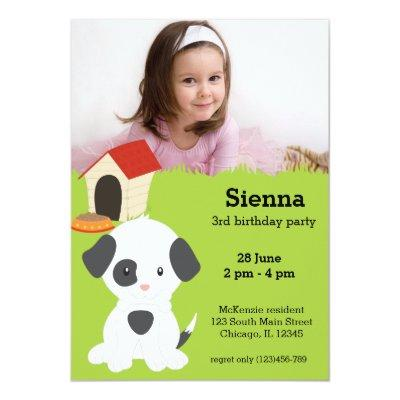 Cute puppy birthday Invitations
