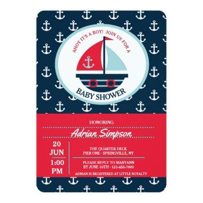 Cute Sailboat Invitations