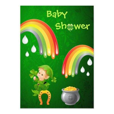 Cute St. Patrick's Day Baby Shower Invitation