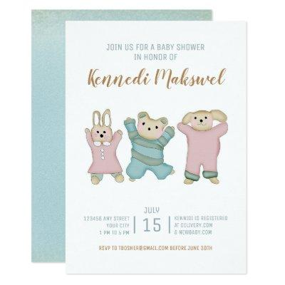 Cute Sweet Animals | Baby Shower Invitations