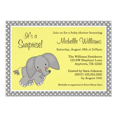 Cute Yellow Elephant Gender Neutral