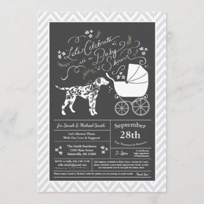 Dalmatian Dog Baby Shower Gender Neutral Invitation
