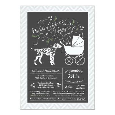 Dalmatian Dog Baby Shower Gender Neutral Invitation