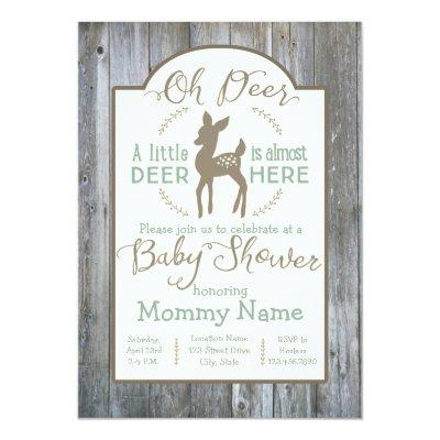 rustic country baby shower baby shower invitations | baby shower, Baby shower invitations