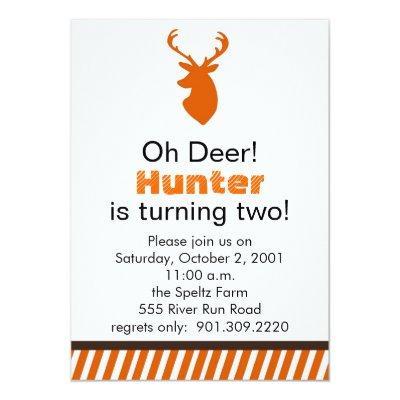 Deer Birthday Invitation