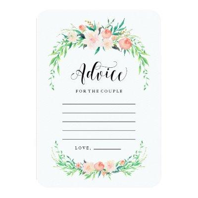 Delicate Bouquet Advice Cards