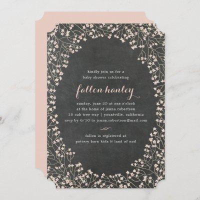 Delicate Frame   Baby Shower Invitation
