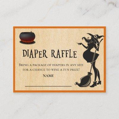 Diaper Raffle Baby Brewing Witch Halloween Enclosure Card