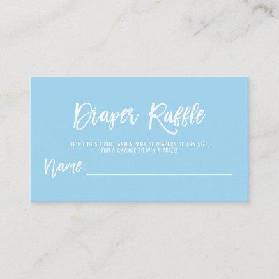 DIAPER RAFFLE Ticket Blue BOY Baby Shower Enclosure Card
