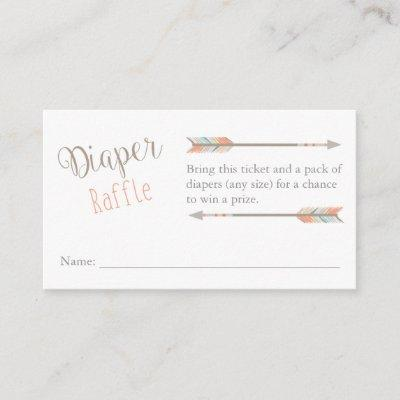Diaper Raffle Ticket Enclosure Card