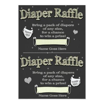baby shower diaper raffle tickets baby shower invitations | baby, Baby shower invitations