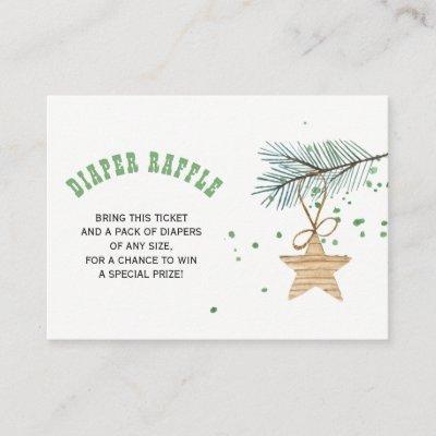 Diaper raffle winter baby shower insert card