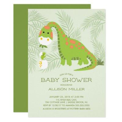 Dino Love Boys Baby Shower Invitations