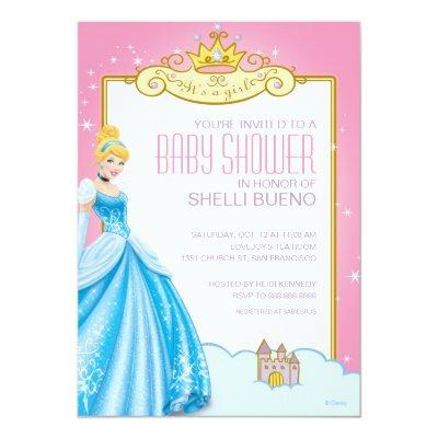 Disney Princess Cinderella Itu0027s A Girl Invitations