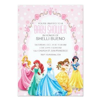 Disney Princess It's a Girl Invitations
