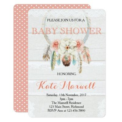 Dreamcatcher Boho Invitations