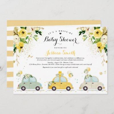 Drive By Baby Shower Gender Neutral Baby Shower Invitation