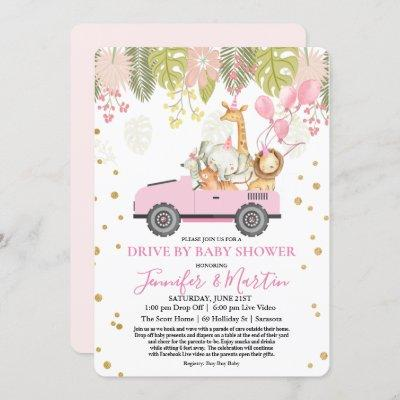 Drive By Baby Shower Virtual Baby Shower Invitation