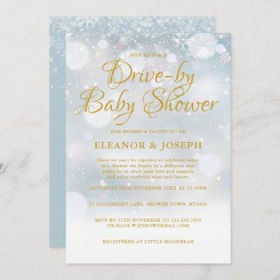 Drive-by Couples Winter Baby Shower Sprinkle Invitation