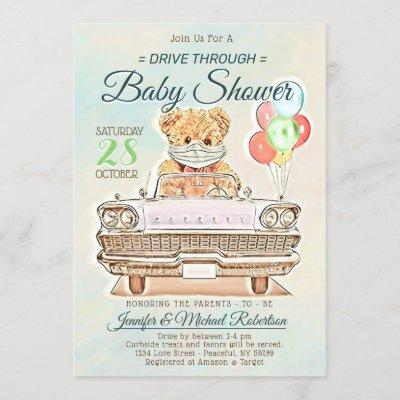 Drive Through Baby Shower for Boy or Girl Invitation
