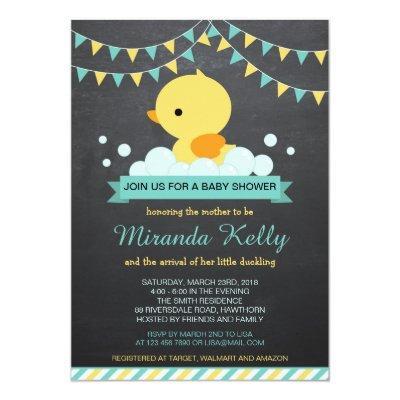 Duck Baby Shower Invitations / Rubber Duck Invite