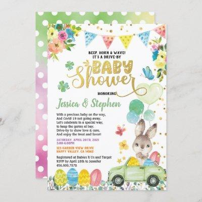 Easter Bunny Drive Through Baby Shower Parade Invitation