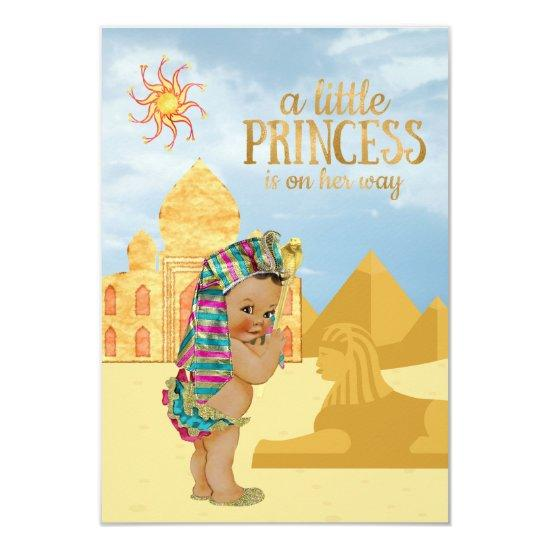 Egyptian Egyptian Princess Baby Shower Invitations