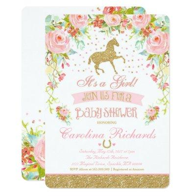 Elegant Horse Baby Shower Invitation